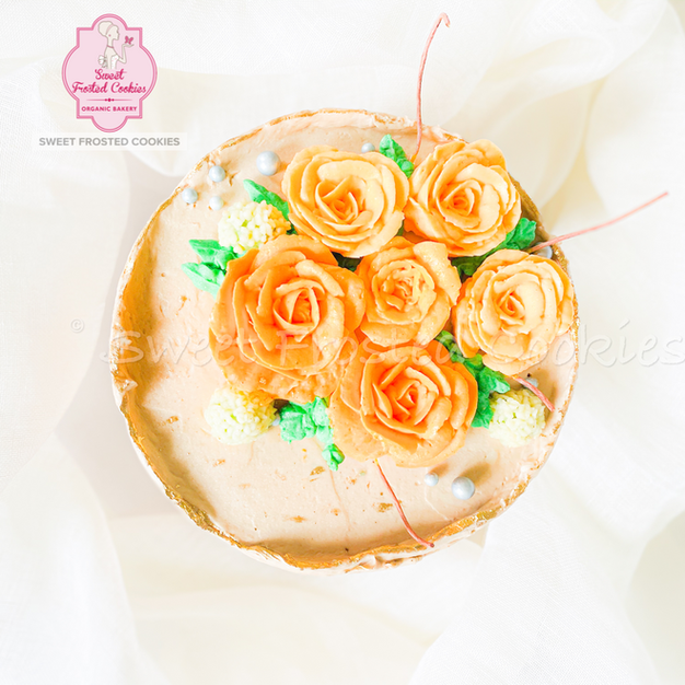 Fault Line Roses In Cake