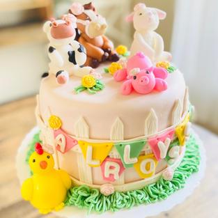 Baby Shower Farm Animal Cake