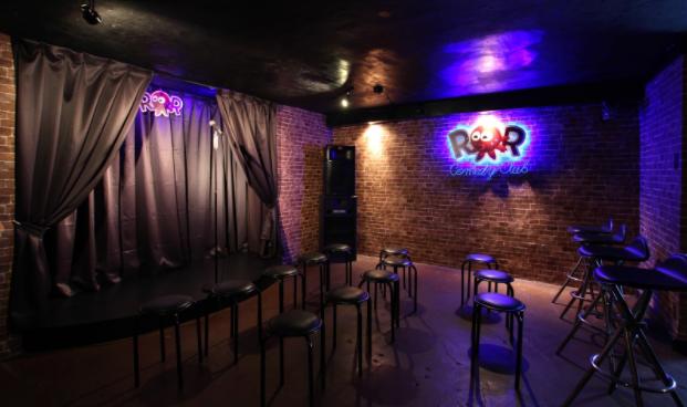 Today's ROR Comedy Club shines as an Osaka nightlife hotspot.