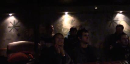 The nightclub lighting at Suite bar.