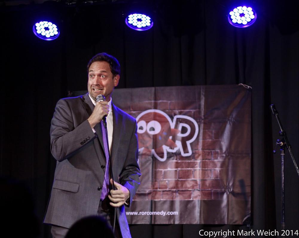 Comedian Tony Romani making laughs at our Osaka bar and club.