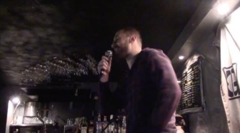Performing around the bar decor.