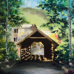 Covered Bridge in Summer