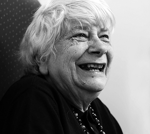 Photo of an elderly women laughing