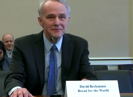 Congressional Testimony on International Aid