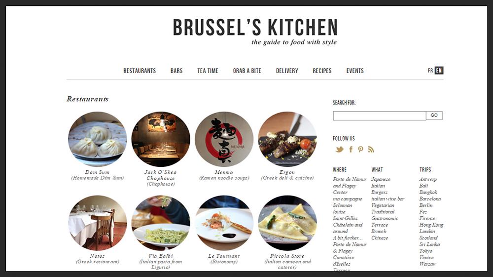 Liste des restaurants sur Brussel's Kitchen