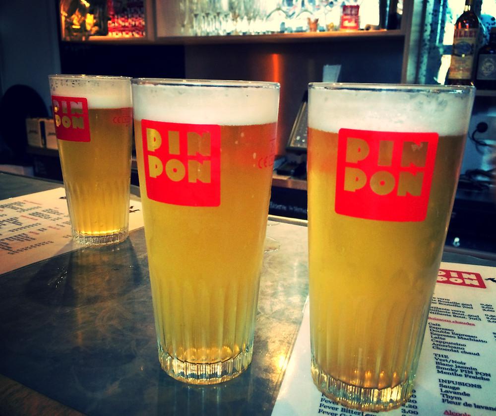 Bière artisanale chez Pin Pon à Bruxelles