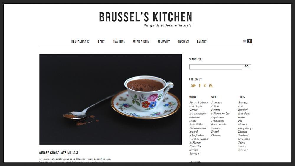 Recette de mousse au chocolat de Brussel's Kitchen