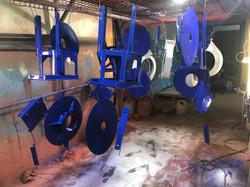Порошковая покраска подставок под вентилятор в Тольятти