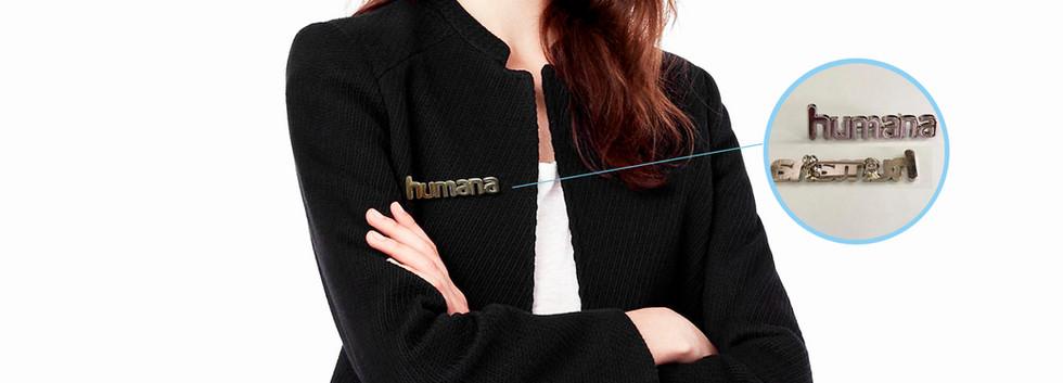 Placas metálicas para uniformes