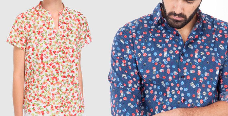 Blusa y camisa tela santorini