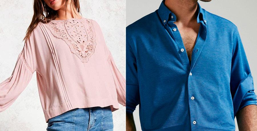 Blusa y camisa tela scarlet