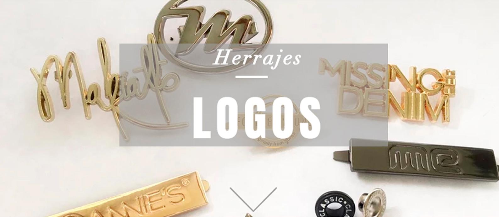Logos y placas metálicos para ropa y carteras