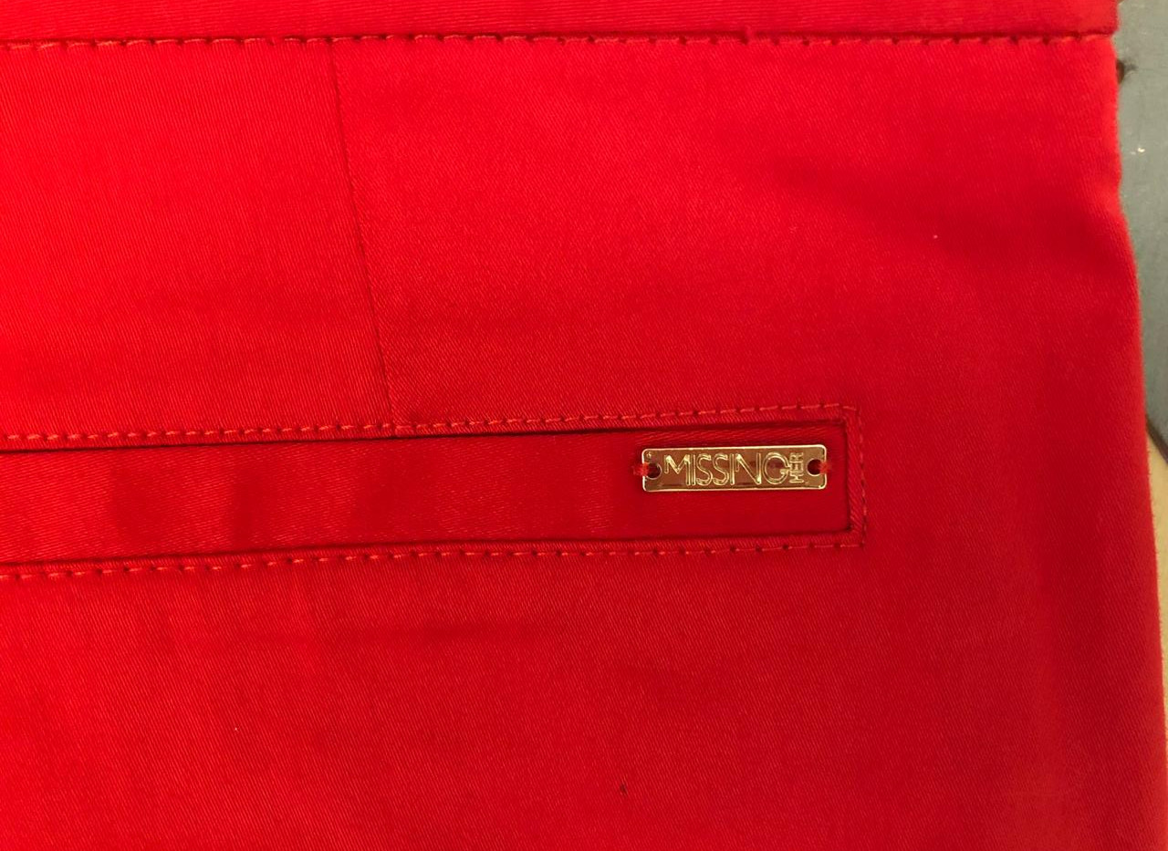 Placa logo metálico para ropa