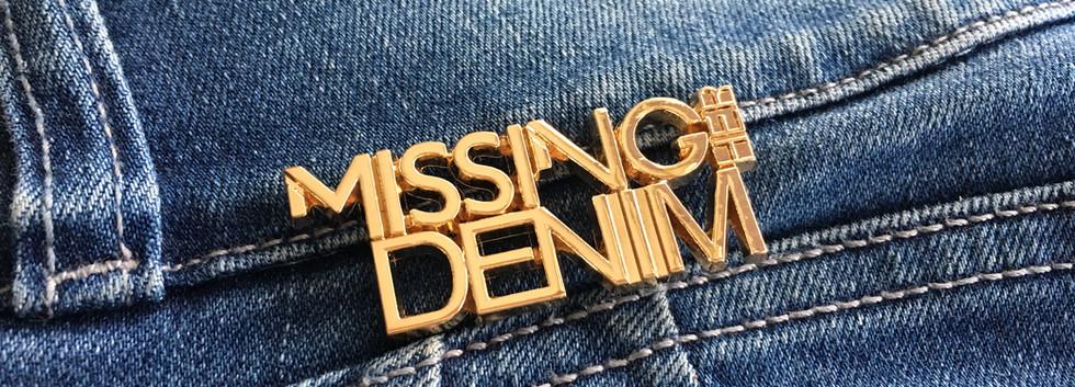 Placas metálicas para jeans