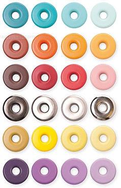ojales de colores para prendas