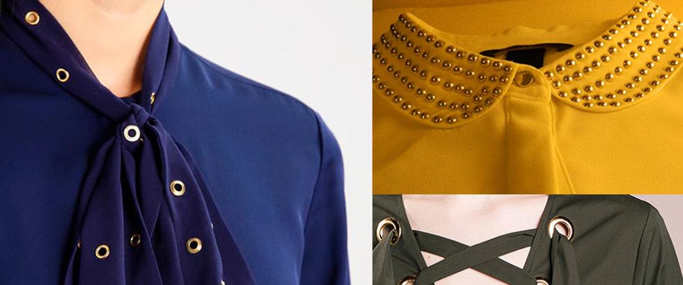 Ojales remaches broches para prendas de vestir