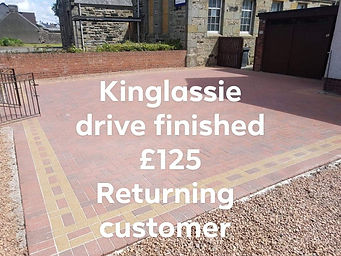 driveway cleaned kinglassie