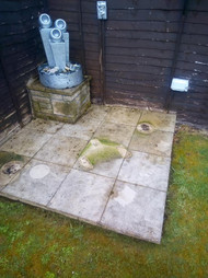 Slabs about to get powerwashed Fife