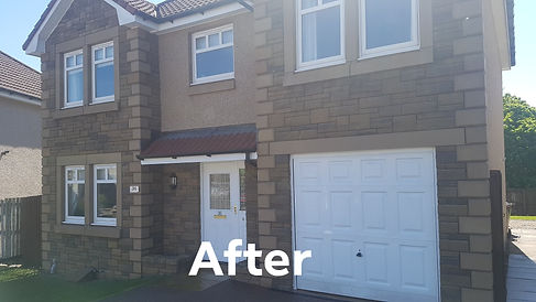 Rough cast render cleaning fife