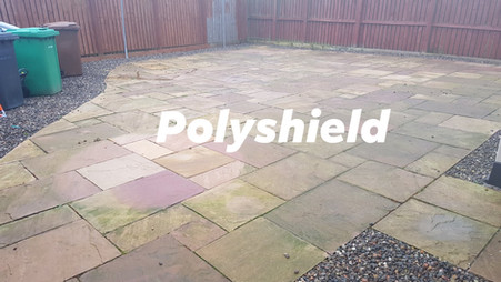 Before picture of a patio