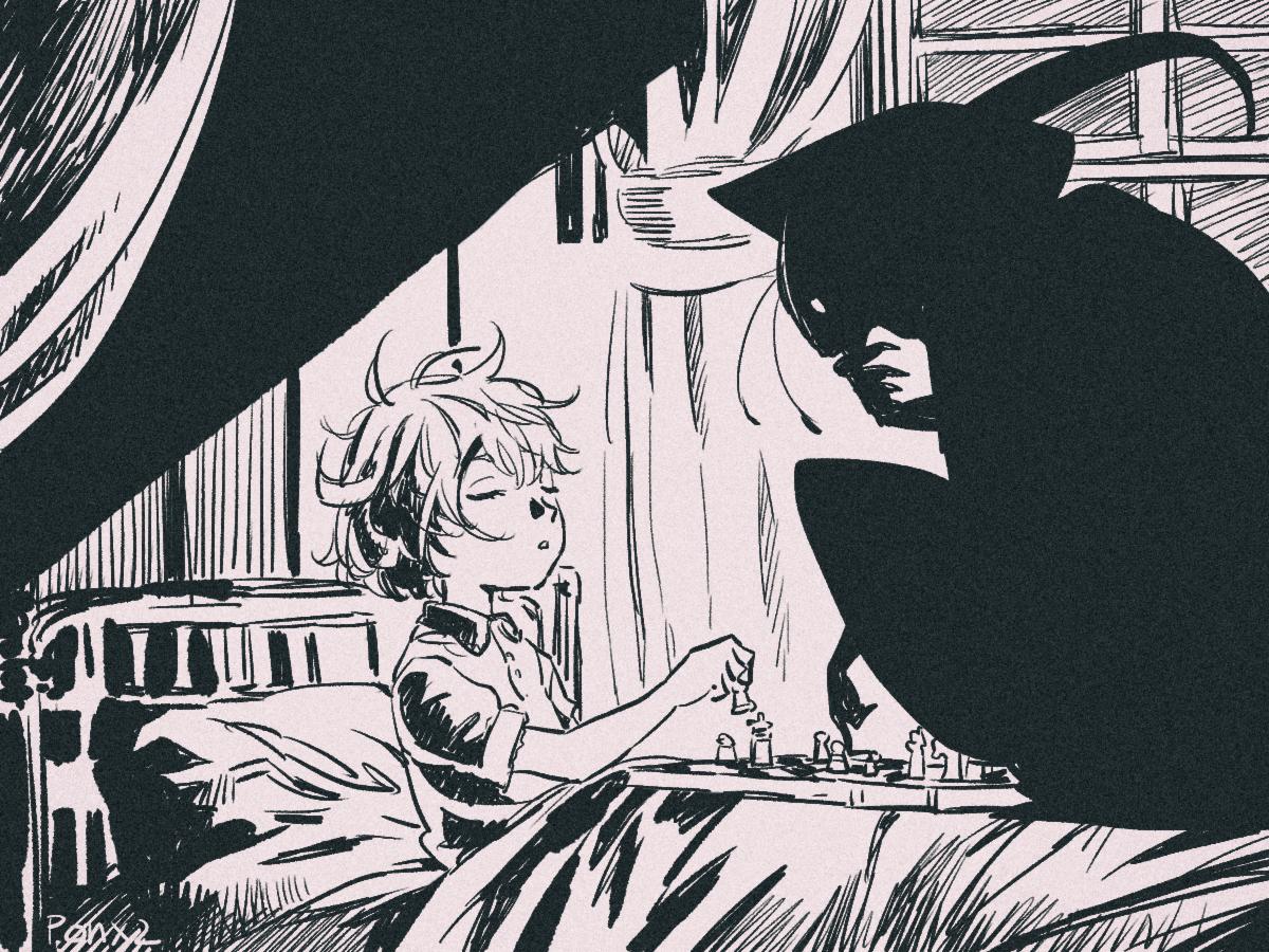 盲目の少女とチェスの悪魔