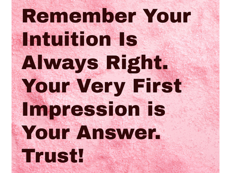 Do You Have Intuition, Yes I bet You Do!