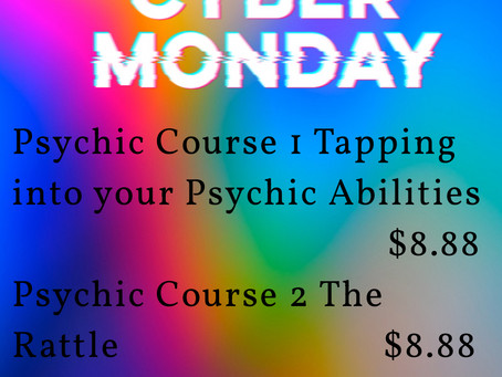 Cyber Monday Specials Psychic Courses $8.88                       Limited Time Offer!
