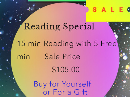"""EXTENDED 1 MORE WEEK!!!!      Psychic-Tarot-Medium Reading """"BIG SALE"""" Dont Miss Out!  LIMITED SPACE!"""
