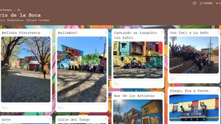 """Los alumnos y alumnas de 2do TM fueron al Barrio de La Boca dentro del proyecto """"La ciudad""""."""