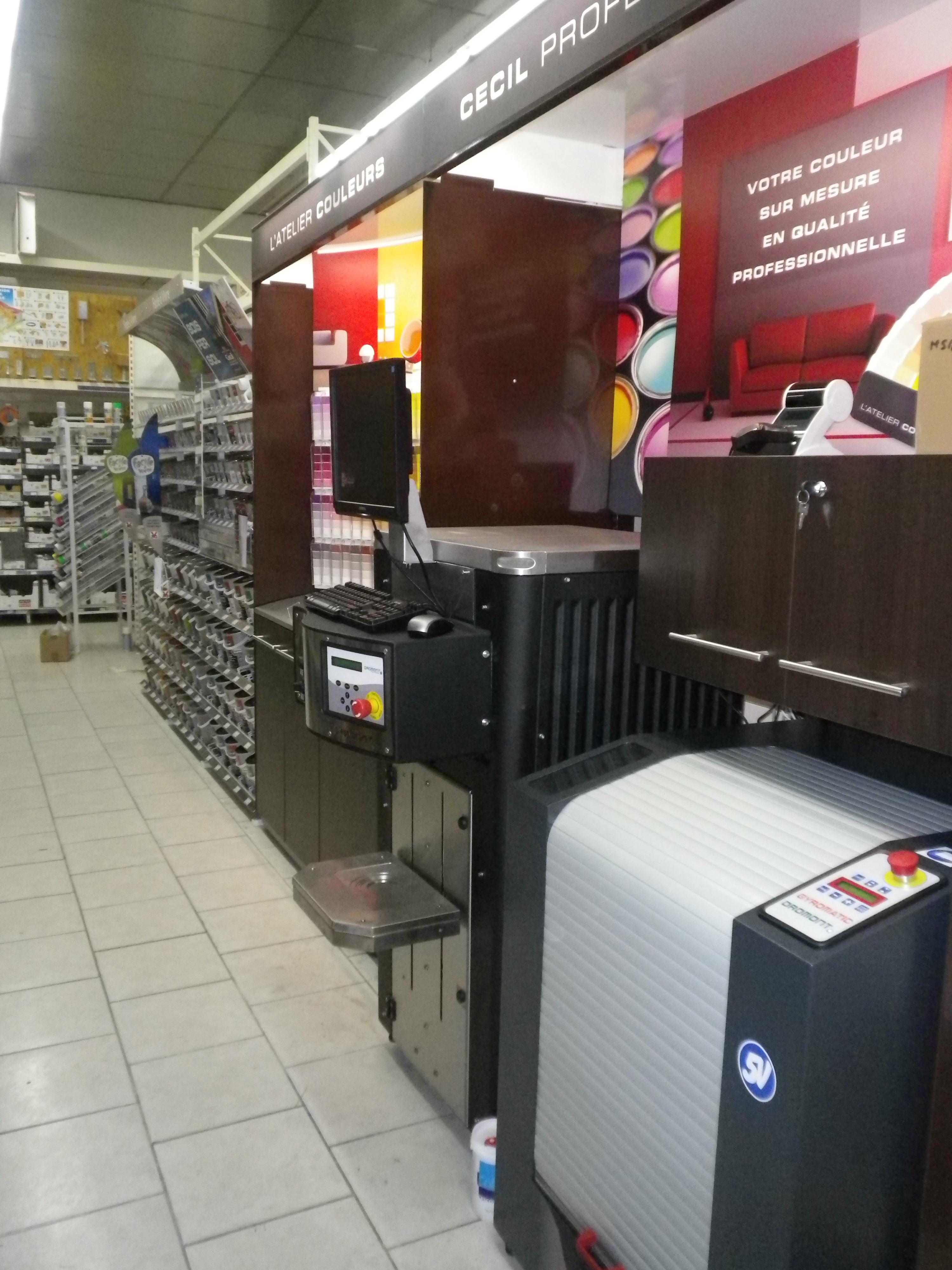 Installation magasin Cecil