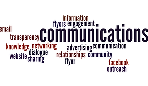 This is a wordcloud about the Communications Committee.