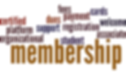 This is a wordcloud about the Membership Committee.
