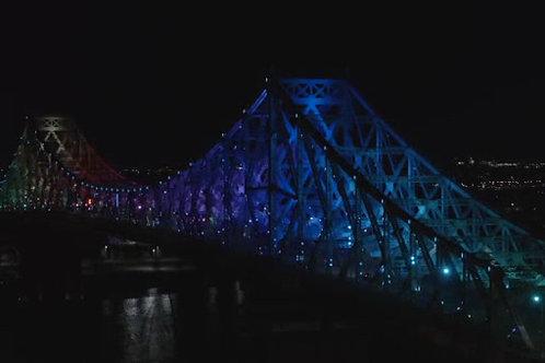 Pont Jacques-Cartier-Nuit-Arc-en Ciel