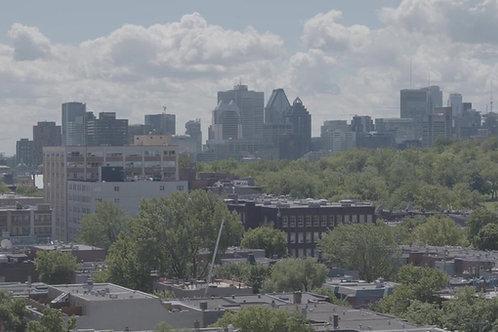 Montréal Centre Ville vu de la rue Mont-Royal