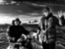 En tournage sous le pont Jacques Cartier à Montréal avec Mathieu Landry et David Etienne Durivage