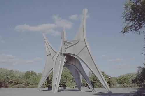 sculpture de Calder, parc Jean-Drapeau, Montréal