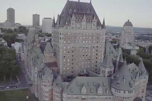 Québec Château Frontenac - Drone Stock Video - Dizifilms