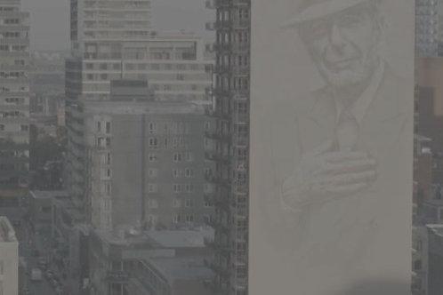 Leonard Cohen Crescent Street Mural