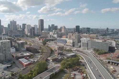 Montreal Centre-Ville Vu du bassin Peel