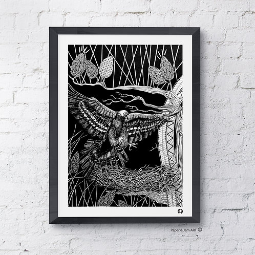 Golden Eagle in the Pines (Limited Edition Print)