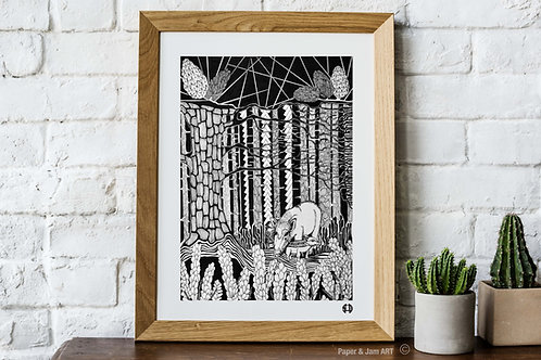 Wild Boar Amongst The Pine (Limited Edition Print)