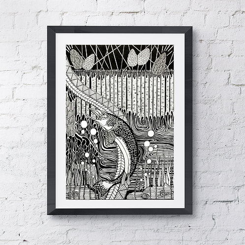 The Water Wolf -Great Northern Pike (Limited Edition Print)