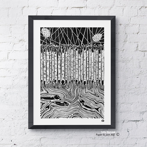 Birch Tree By The Stream (Limited Edition Print)