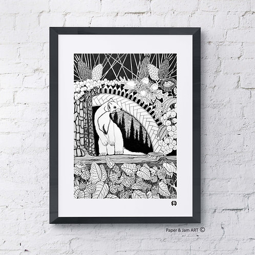 Pine Marten in the Pine Forest (Limited Edition Print)
