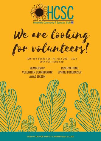 Green Trees Illustration Volunteer Flyer