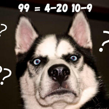 99 = 4-20 10-9