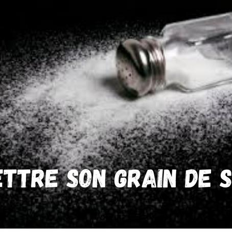 Mettre son grain de sel