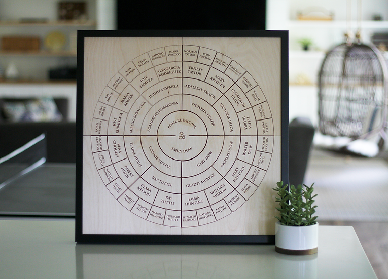Custom Engraved Family Tree + Frame