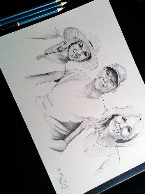 copy of copy of Custom Pet Watercolor or Pencil Portrait
